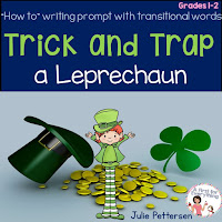 Help your Kindergarten, 1st, 2nd, or 3rd grade classroom or homeschool students better understand transitional words with the anchor charts and ideas at this blog post. With a focus on transition words in writer's workshop, your students are sure to understand the concept after you model your expectations. This can be turned into a great writing mini lesson for any primary classroom! {K, first, second, third grader, balanced literacy} Plus there's a FREE St. Patrick's Day writing lesson!