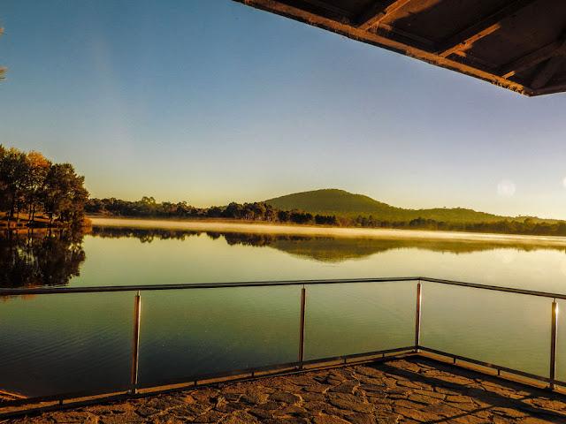 Dusk at Lake Tuggeranong Shoreline