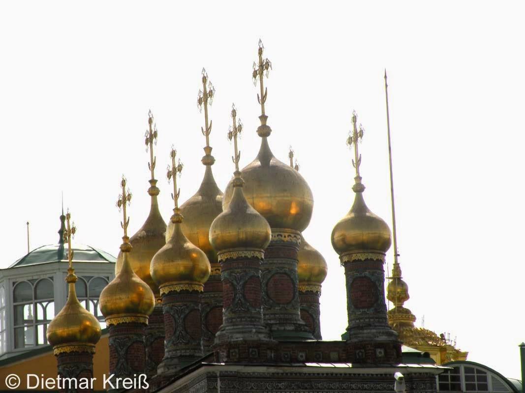 Türme aus Gold in Moskau