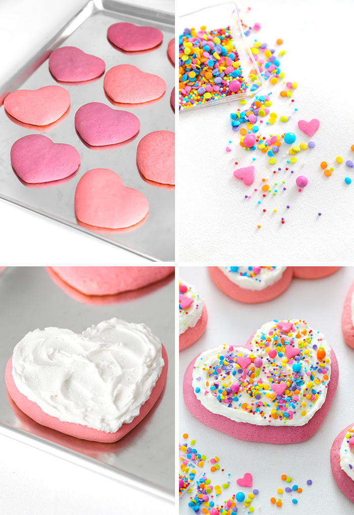 Heart Shaped Lofthouse Style Sugar Cookies