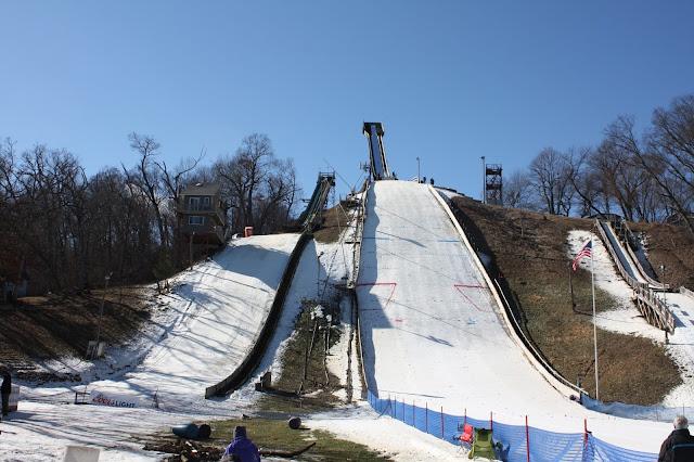 The ski jump at Norge Ski Jump in Fox River Grove, IL