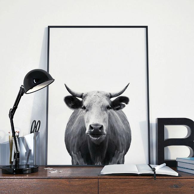 Minimal cow free printable