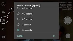 Cara setting frame interval ketika membuat timelapse di android
