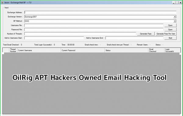Iranian Based OilRig APT Hackers Owned Email Hacking Tool Leaked in Telegram
