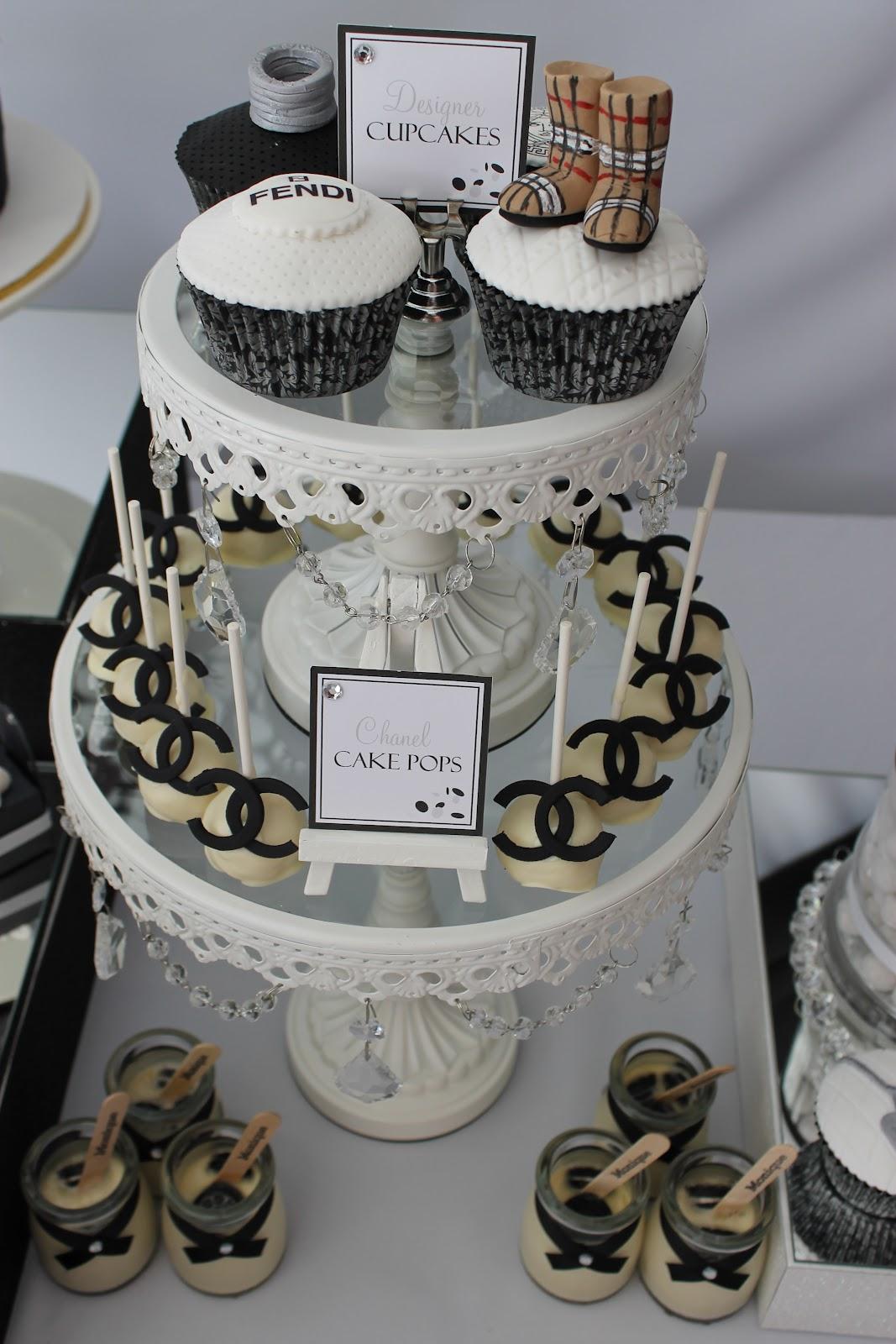 Events By Nat: Runway/Catwalk Black & White Dessert Table