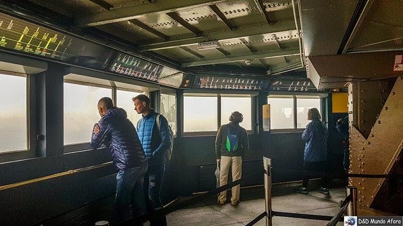 Espaço de observação fechado no terceiro andar - Como visitar a Torre Eiffel em Paris