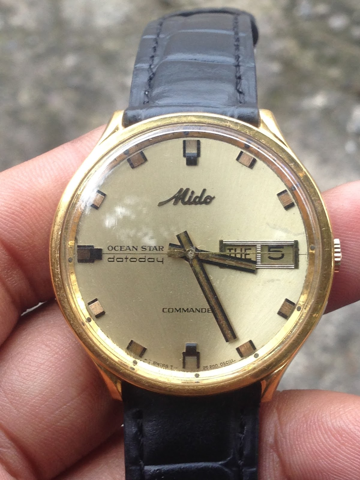 Mido Commander Ocean Star Gold Plate Swiss Made( FOR SALE). Jam tangan  jadul merk mido commander otomatis ... 2cf1e3266e