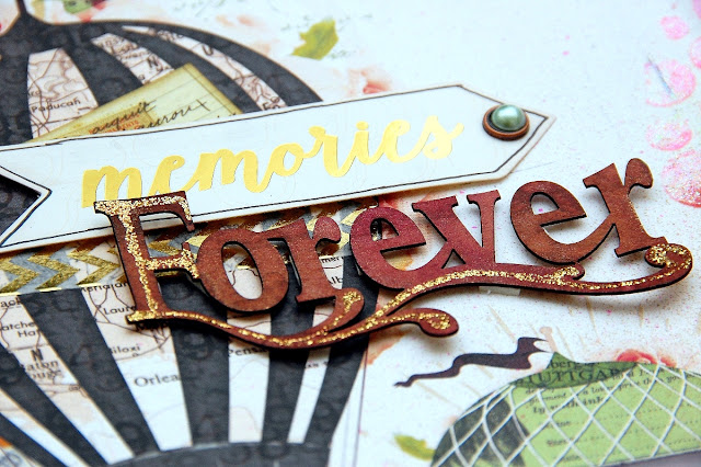 Memories Forever Layout by Irene Tan using BoBunny Beautiful Dreamer Collection