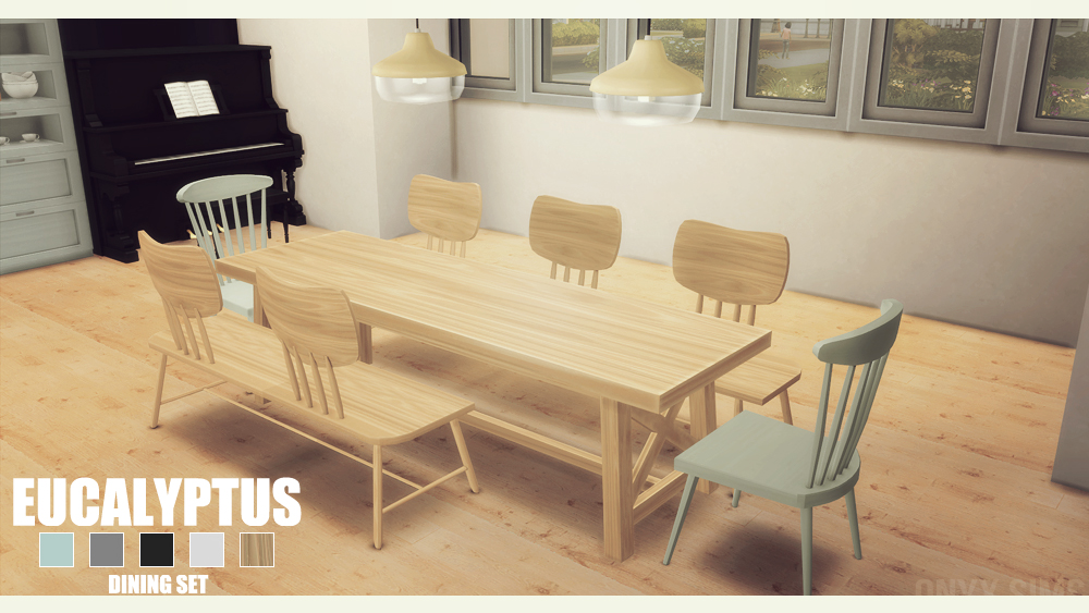 My Sims 4 Blog Eucalyptus Dining Set By Kiararawks