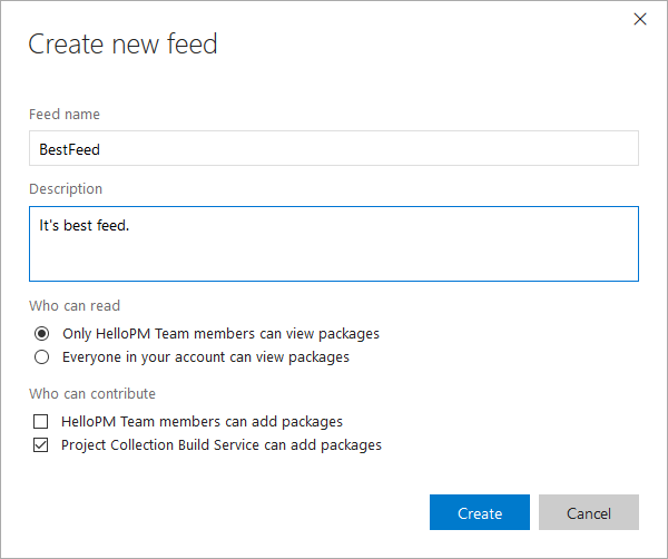 Package Management - New Feed(2)