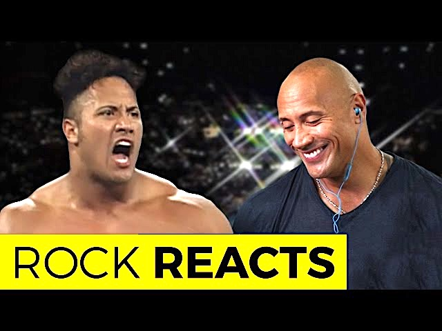 "Famous WWE Wrestler ""The Rock"" React at his first ring appearance"