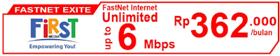 Paket Internet First Media FasNet Exite (Promo)