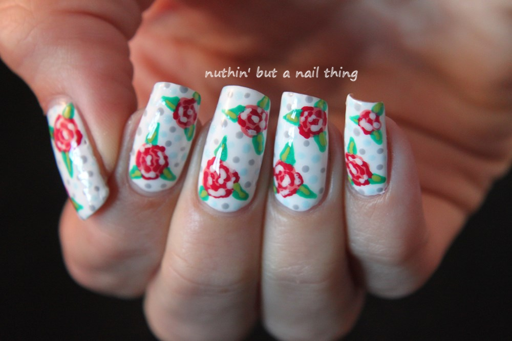 vintage style nail art design tutorial