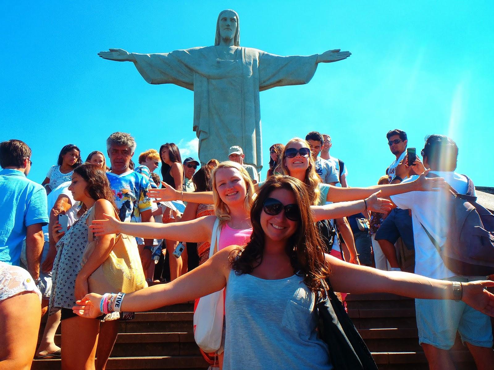 Girls at Christ the Redeemer Rio de Janeiro