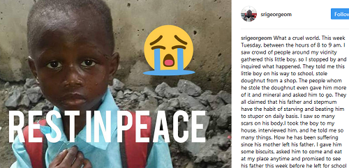 Victim of Child violence- This is Heartbreaking! Father Beats His Own Little Boy To Death In Port Harcourt