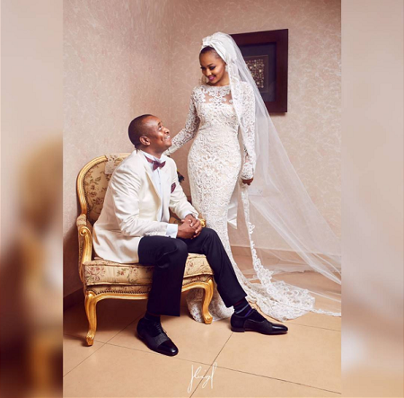zahra buhari white wedding photos
