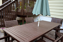 In Little Yellow House Building Pergola Stain