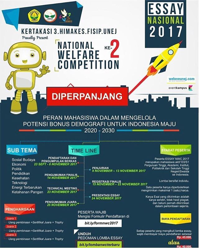 National Welfare Competition 2017 Untuk Mahasiswa