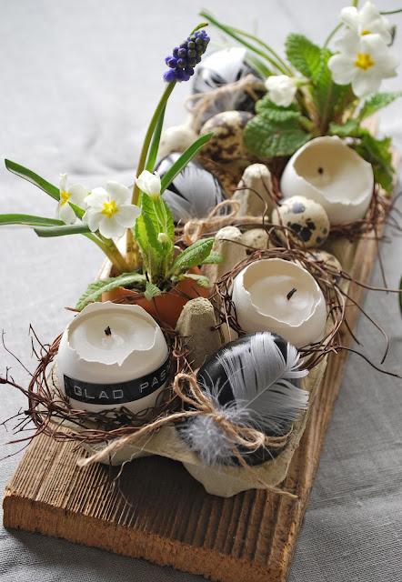 dekoracje wielkanoc stół proste łatwe blog DIY