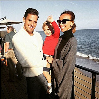 Julianne and her husband Bill Rancic and her son Edward