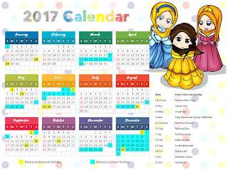 kalendar muslimah comel
