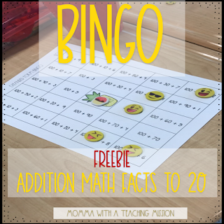 https://www.teacherspayteachers.com/Product/Bingo-Math-Addition-Facts-to-20-FREEBIE-3474915