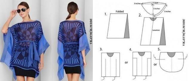 kaftan, caftán, prendas, moda, bricomoda, patrón, costura, kimono