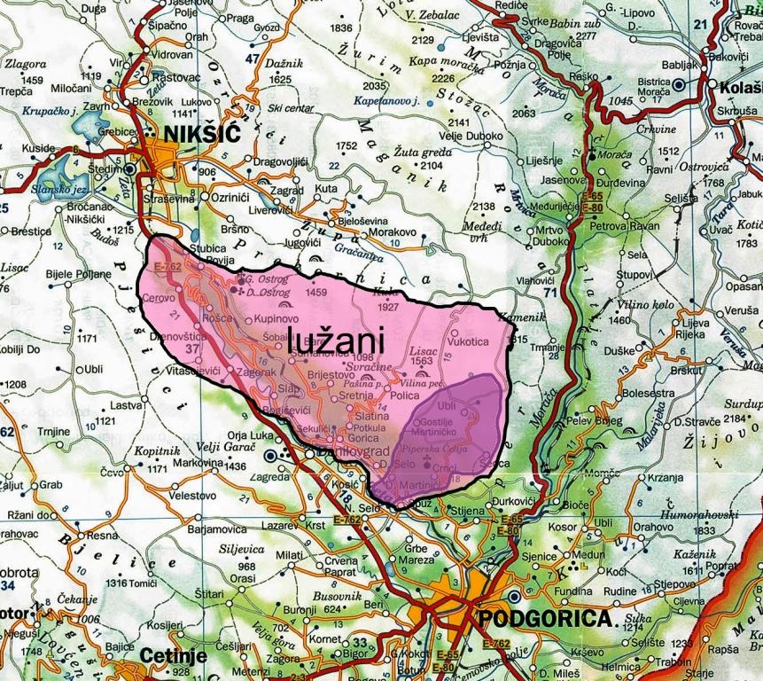 Karta Crne Gore I Srbije
