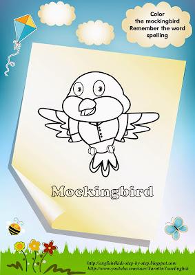 mockingbird coloring