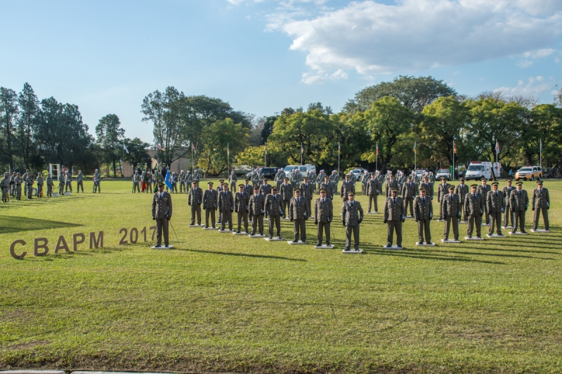 O curso habilita os formandos a atuarem como oficiais de policia militar promovendo-os ao posto de 1º tenente - Foto: Rafael Silva/QCG