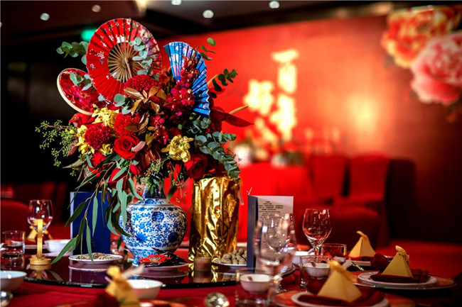 chinese theme wedding flowers