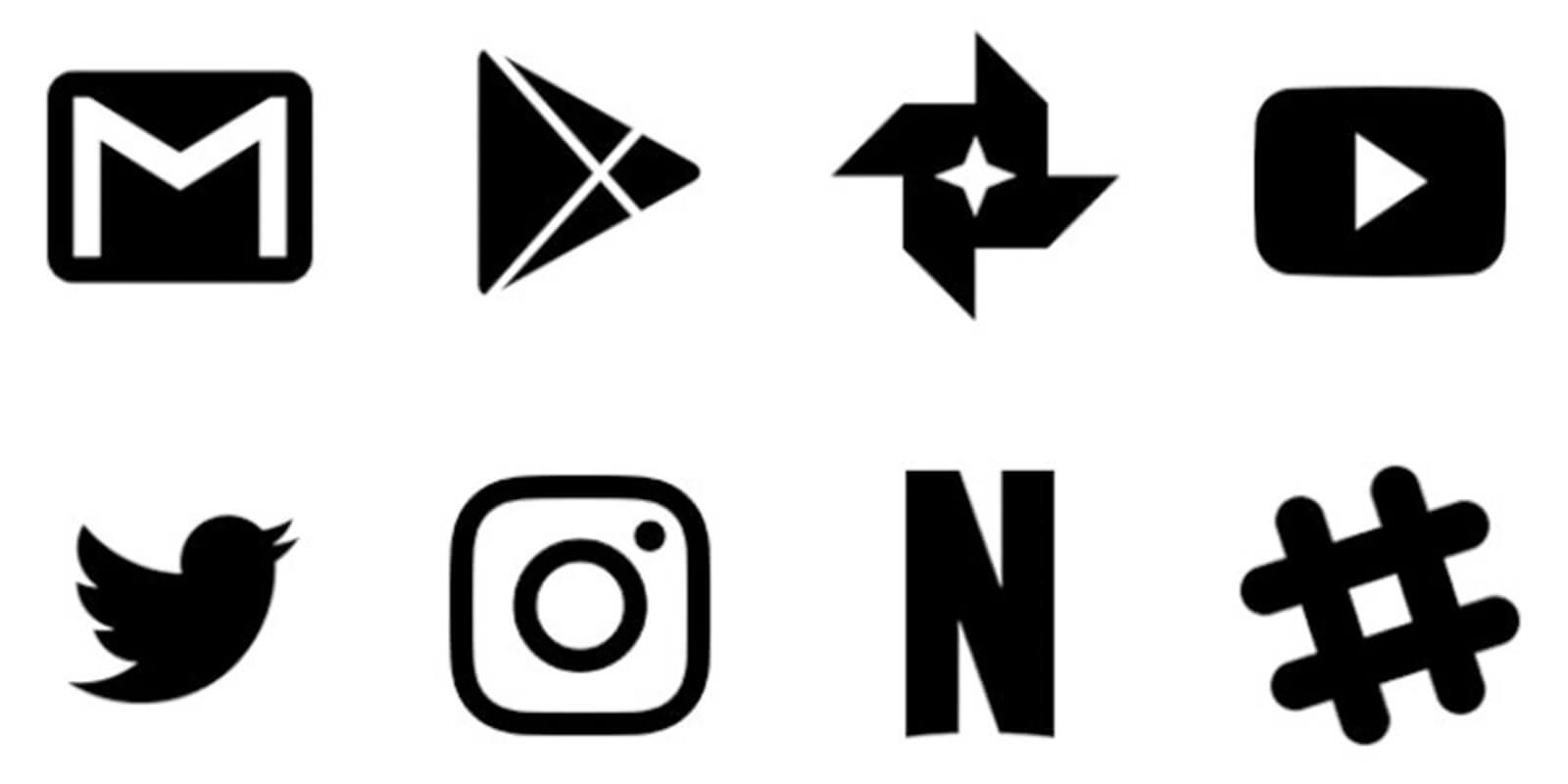Iconos de Zwart Black Icon Pack