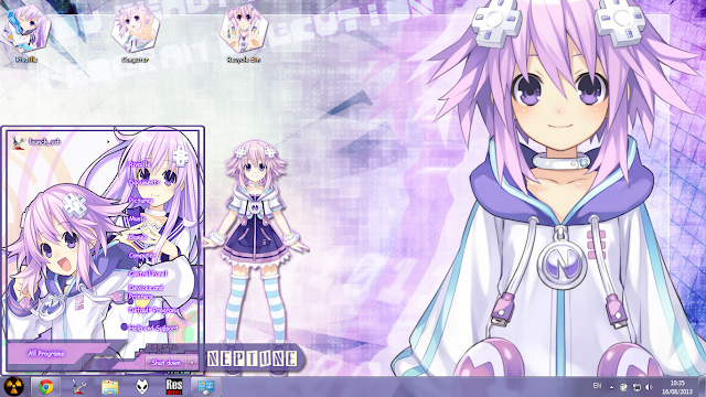 [Theme Win 7] Neptune & Nepgear - Hyperdimension Neptunia By Bashkara