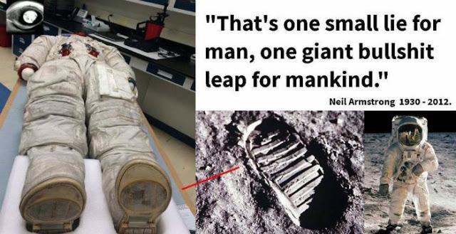 Η διαστημική στολή του Neil Armstrong αποδεικνύει ότι δεν...πάτησαν στο φεγγάρι [Βίντεο]