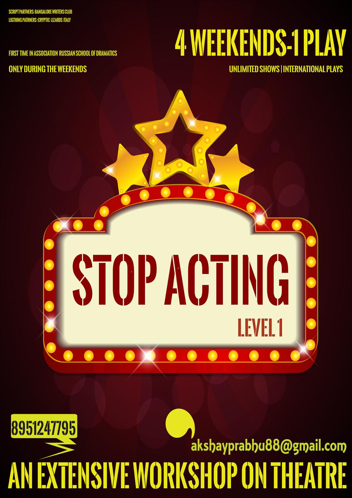 Stop Acting Work