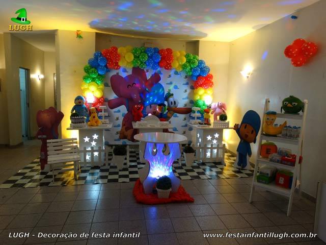 Decoração aniversário de 1 ano masculina tema Pocoyo para festa infantil