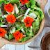 Nasturtium and Kohlrabi Salad with Creamy Lemon-Dill Dressing