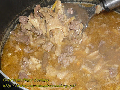 Beef Pinapaitan, Papaitan - Cooking Procedure