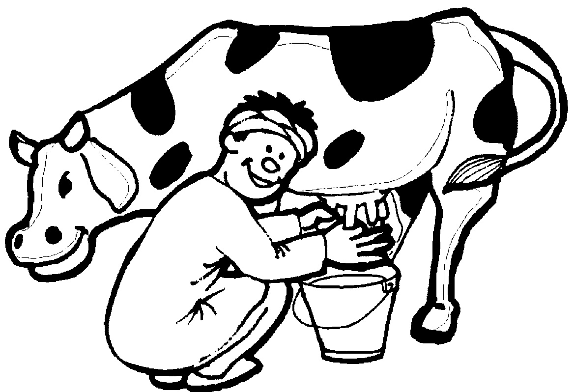 milk cow coloring pages