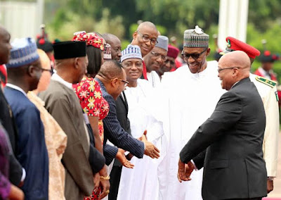 President jacob zuma of south africa visits Nigeria
