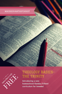 Theology Basics-The Trinity: Introducing a new FREE homeschool and Sunday School Curriculum.  Kids | Parents | Faith | Christian | Bible