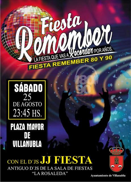 Fiesta Remember en la Plaza Mayor de Villanubla