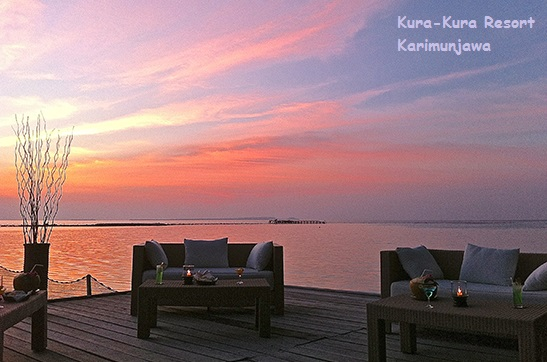 suasana sunset di kura kura resort karimunjawa
