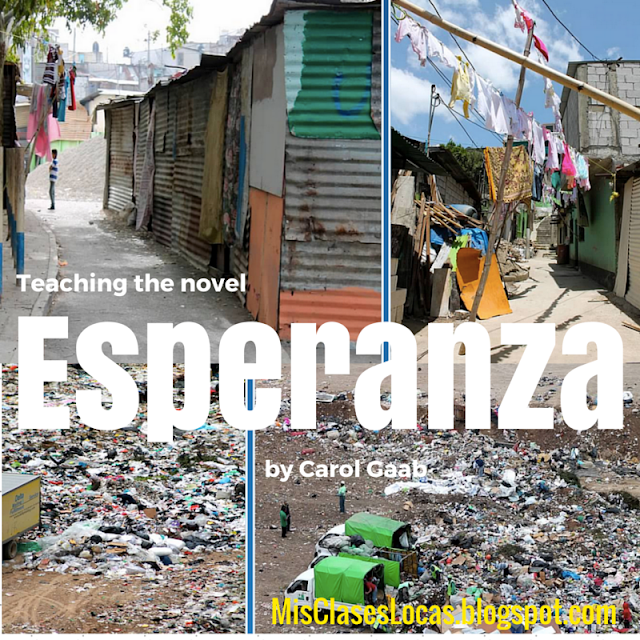 Teaching the novel Esperanza - shared by Mis Clases Locas