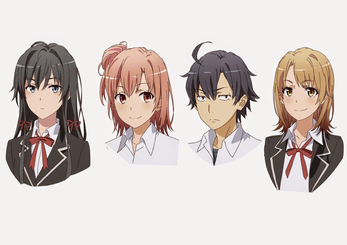 primeros dise os de personajes del anime yahari ore no seishun love come wa machigatteiru zoku. Black Bedroom Furniture Sets. Home Design Ideas