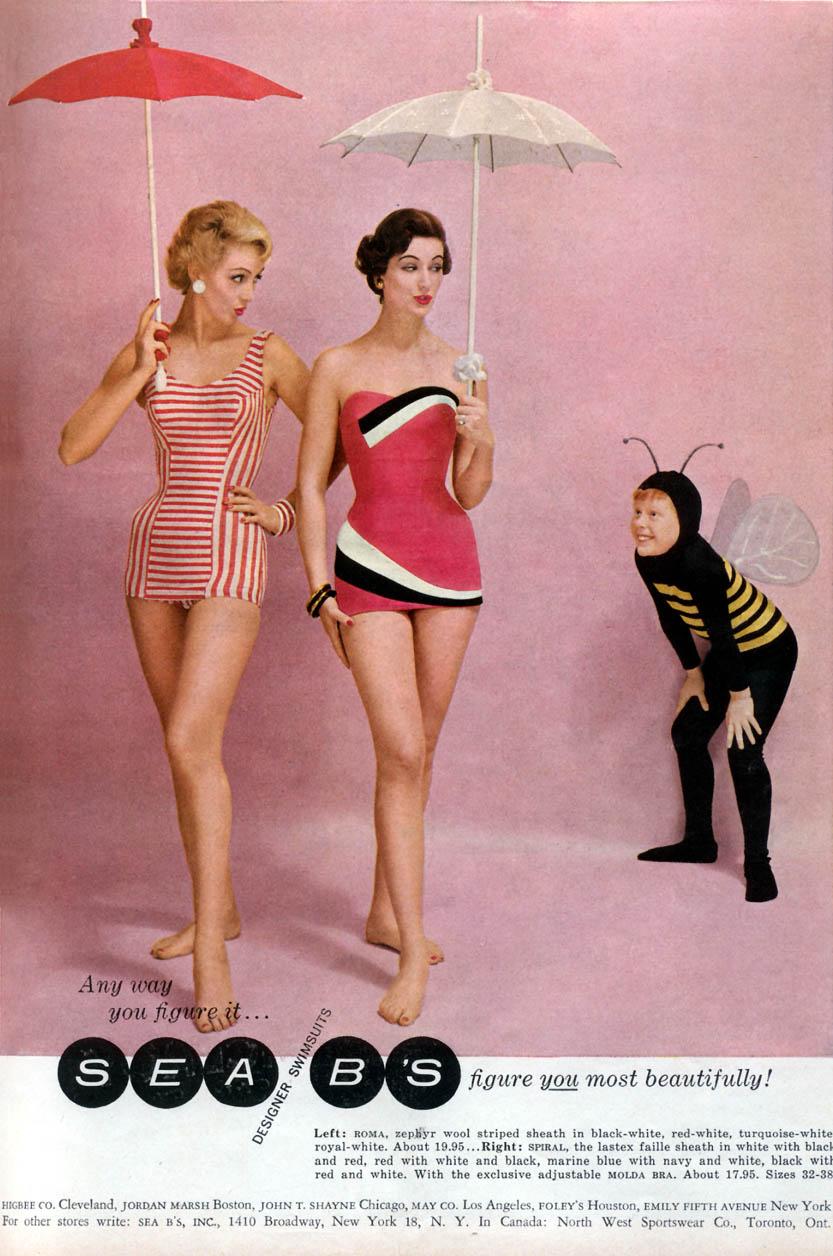 Beautiful Womens Swimwear Fashion Of The 1950S  Vintage -6605