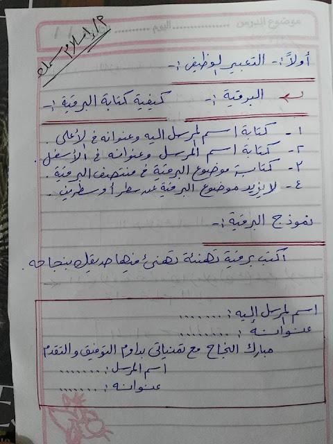 تحميل مذكرة تشرح كيفية كتابة موضوع التعبير لصفوف المرحلة الاعدادية, المرحلة الابتدائية, الاستاذ اسلام سمك