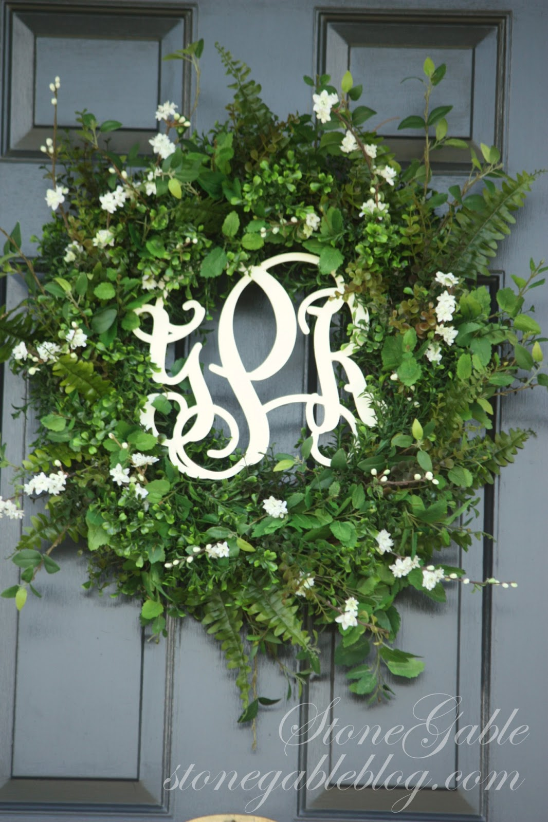 FRONT DOOR WREATH~ SUMMER 2013 - StoneGable