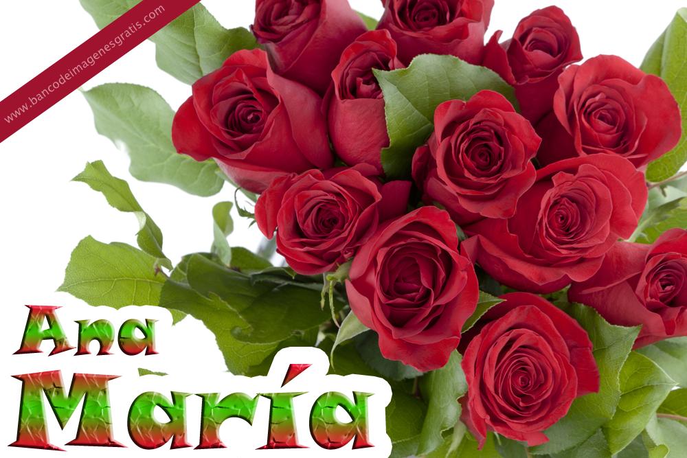 Banco De Imagenes Rosas Rojas Con Nombres De Personas Y Mensajes