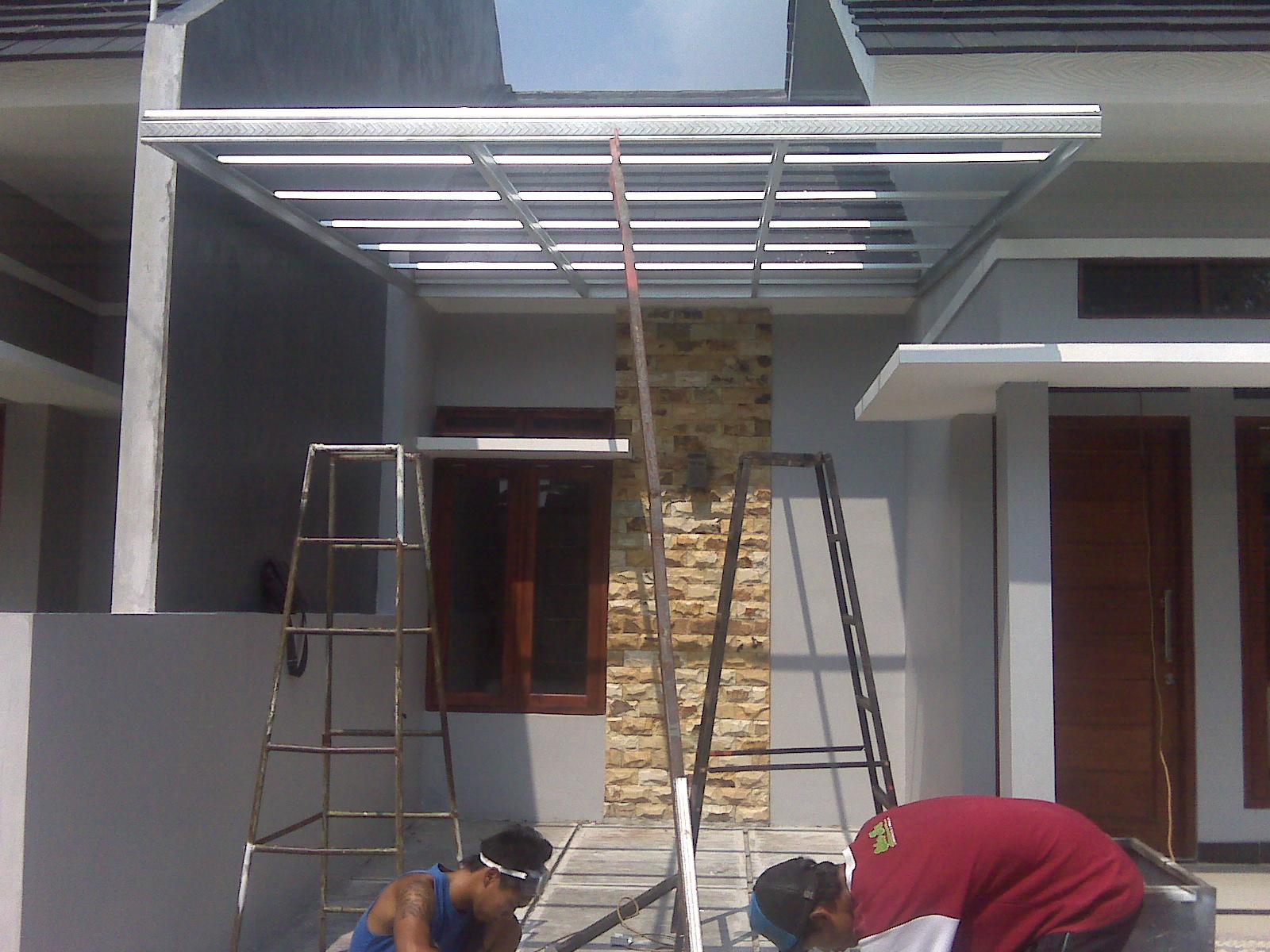 canopy baja ringan tanpa tiang konsep 31 model kanopi